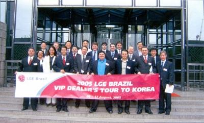 Visita Técnica, Matriz LG - Korea